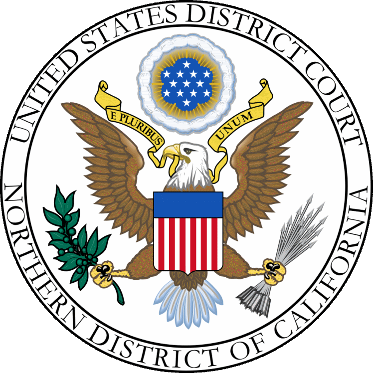 Correction version of the Seal of the US District Court, Northern District of California